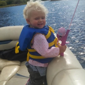 start them young blonde fishing