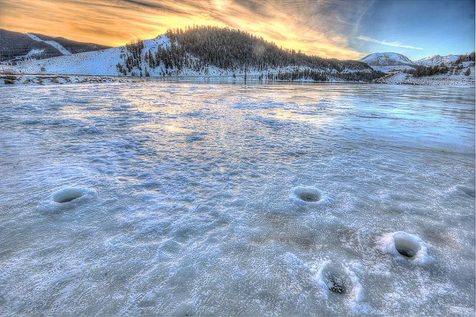 ice holes safety sunrise colorado keystone lake dillon ice