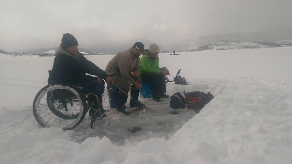 wheelchair accessible ice fishing venture good fishing buddies