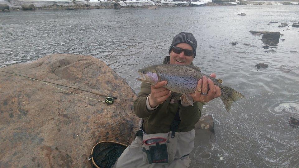 randy big football rainbow fly fishing spring ski