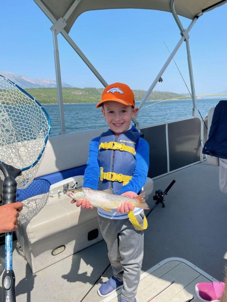 broncos hat lake fishing child