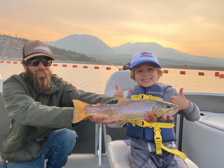 abraham lincoln jeremy nice brown tight lines colorado sunset reservoir