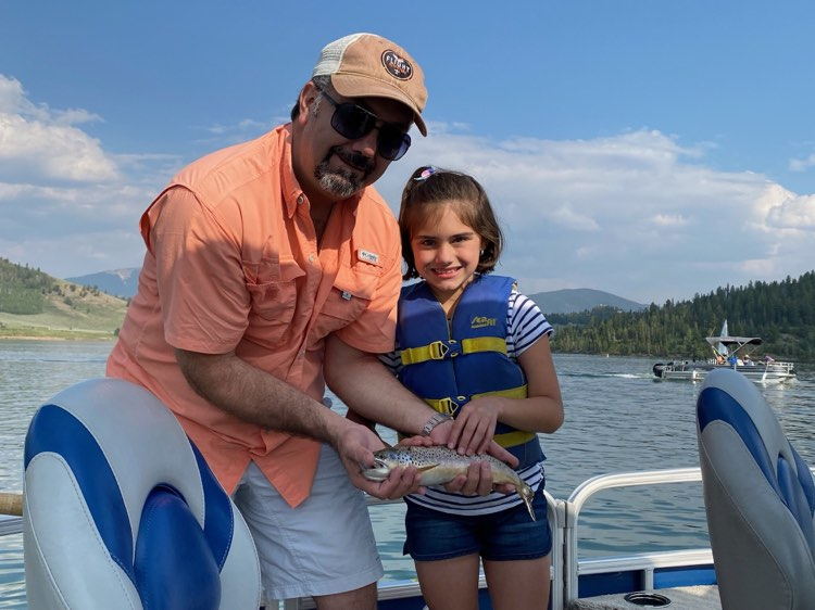 Columbia dad and daughter duo pontoon brown