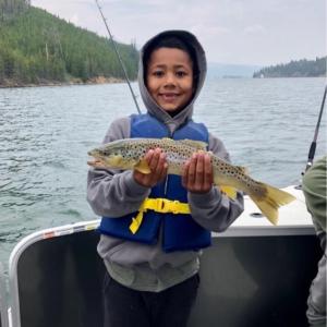 cool summer rain brings in large brown trout