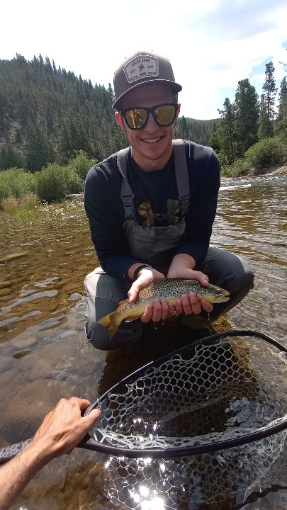 sunglasses clear water fly fisherman tiger trout