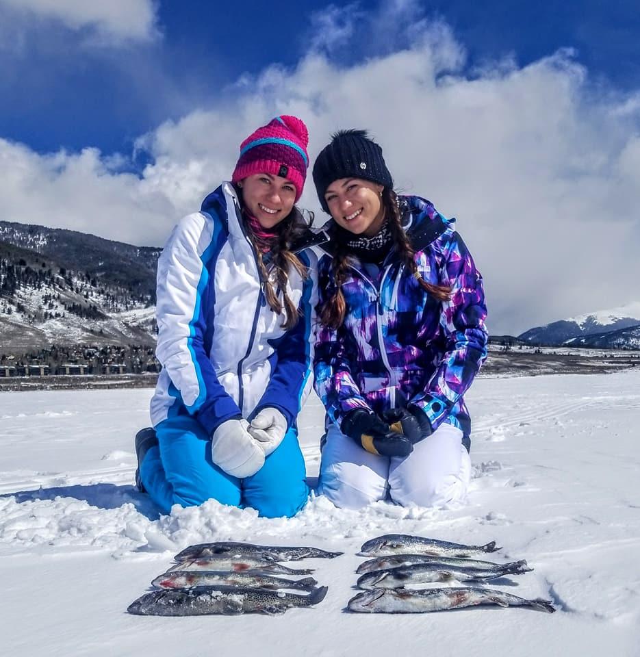 sisters enjoy catching limit bag kokanee salmon